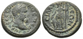 Pamphylia, Sillyon, Septimius Severus 193-211 AD, AE Laureate head of Septimius Severus right Ares standing left, head turned right SNG Paris 983-4 19...
