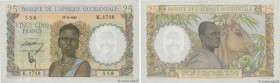 Country : FRENCH WEST AFRICA (1895-1958)  Face Value : 25 Francs   Date : 17 août 1943  Period/Province/Bank : Banque de l'Afrique Occidentale  Catalo...