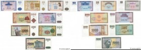 Country : ARMENIA  Face Value : 10 au 5000 Dram Lot  Date : 1993-1995  Period/Province/Bank : Armenian Republic Bank  Catalogue reference : P.33 au P....