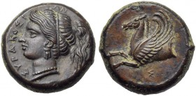 Sicily, Syracuse, Timoleon and Third Democracy (344-317), Bronze, c. 344-317 BC