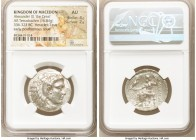 MACEDONIAN KINGDOM. Alexander III the Great (336-323 BC). AR tetradrachm (26mm, 16.84 gm, 21h). NGC AU 4/5 - 2/5. Late lifetime-early posthumous issue...
