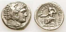 MACEDONIAN KINGDOM. Alexander III the Great (336-323 BC). AR tetradrachm (27mm, 16.95 gm, 6h). XF, porosity. Late lifetime-early posthumous issue of '...