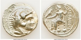 MACEDONIAN KINGDOM. Alexander III the Great (336-323 BC). AR tetradrachm (26mm, 16.95 gm, 12h). Choice Fine, graffiti. Late lifetime-early posthumous ...