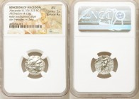 MACEDONIAN KINGDOM. Alexander III the Great (336-323 BC). AR drachm (17mm, 4.13 gm, 12h). NGC AU 5/5 - 4/5. Posthumous issue of Lampsacus, ca. 310-301...