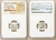 MACEDONIAN KINGDOM. Alexander III the Great (336-323 BC). AR drachm (18mm, 4.24 gm, 12h). NGC AU 5/5 - 4/5. Early posthumous issue of Colophon, 310-30...