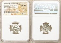 MACEDONIAN KINGDOM. Alexander III the Great (336-323 BC). AR drachm (18mm, 11h). NGC Choice XF. Posthumous issue of Abydus, ca. 310-297 BC. Head of He...