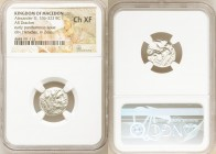 MACEDONIAN KINGDOM. Alexander III the Great (336-323 BC). AR drachm (17mm, 7h). NGC Choice XF. Posthumous issue of Lampsacus, ca. 310-301 BC. Head of ...