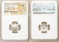 MACEDONIAN KINGDOM. Alexander III the Great (336-323 BC). AR drachm (17mm, 11h). NGC XF. Lifetime issue of Magnesia ad Maeandrum, ca. 325-323 BC. Head...