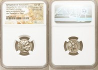 MACEDONIAN KINGDOM. Alexander III the Great (336-323 BC). AR drachm (18mm, 4.42 gm, 11h). NGC Choice VF 5/5 - 4/5. Early posthumous issue of Colophon,...