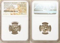 MACEDONIAN KINGDOM. Alexander III the Great (336-323 BC). AR drachm (19mm, 4.23 gm, 11h). NGC Choice VF 5/5 - 4/5. Posthumous issue of 'Colophon', ca....