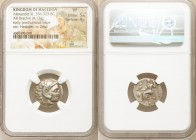 MACEDONIAN KINGDOM. Alexander III the Great (336-323 BC). AR drachm (18mm, 4.13 gm, 11h). NGC VF 5/5 - 4/5. Posthumous issue of Colophon, 310-301 BC. ...