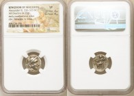 MACEDONIAN KINGDOM. Alexander III the Great (336-323 BC). AR drachm (16mm, 4.22 gm, 12h). NGC VF 4/5 - 4/5. Early posthumous issue of Sardes, ca. 323-...