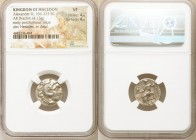 MACEDONIAN KINGDOM. Alexander III the Great (336-323 BC). AR drachm (17mm, 4.13 gm, 12h). NGC VF 4/5 - 4/5. Posthumous issue of Colophon, 310-301 BC. ...