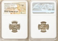 MACEDONIAN KINGDOM. Alexander III the Great (336-323 BC). AR drachm (17mm, 1h). NGC VF. Early posthumous issue of Colophon, ca. 310-301 BC. Head of He...