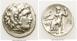 MACEDONIAN KINGDOM. Alexander III the Great (336-323 BC). AR drachm (18mm, 4.24 gm, 6h). VF. Posthumous issue of uncertain mint in western Asia Minor,...