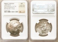 THRACE. Odessus. ca. 280-200 BC. AR tetradrachm (30mm, 16.77 gm, 12h). NGC MS 5/5 - 3/5. Posthumous issue in the name and types of Alexander III the G...