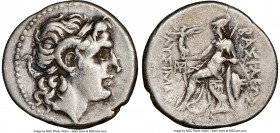 THRACIAN KINGDOM. Lysimachus (305-281 BC). AR drachm (19mm, 12h). NGC Choice VF, brushed. Ephesus, ca. 294-287 BC. Diademed head of deified Alexander ...