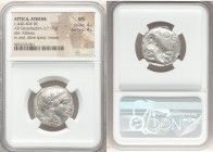 ATTICA. Athens. Ca. 440-404 BC. AR tetradrachm (22mm, 17.19 gm, 4h). NGC MS 4/5 - 4/5. Mid-mass coinage issue. Head of Athena right, wearing crested A...