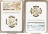 ATTICA. Athens. Ca. 440-404 BC. AR tetradrachm (24mm, 17.18 gm, 5h). NGC Choice AU 4/5 - 1/5, Full Crest, flan flaw, brushed. Mid-mass coinage issue. ...