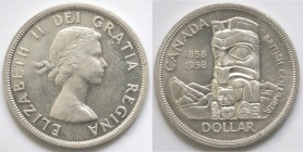 Canada. Dollaro 1958 British Columbia. Ag 800.