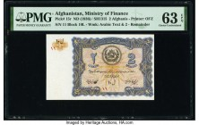 Afghanistan Ministry of Finance 2 Afghanis ND (1936) / SH1315 Pick 15r Remainder PMG Choice Uncirculated 63 EPQ.   HID09801242017  © 2020 Heritage Auc...
