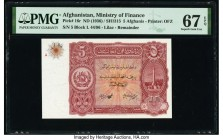 Afghanistan Ministry of Finance 5 Afghanis ND (1936) / SH1315 Pick 16r Remainder PMG Superb Gem Unc 67 EPQ.   HID09801242017  © 2020 Heritage Auctions...