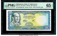 Afghanistan Bank of Afghanistan 500 Afghanis ND (1967) / SH1346 Pick 45 PMG Gem Uncirculated 65 EPQ.   HID09801242017  © 2020 Heritage Auctions | All ...