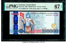 Armenia Central Bank 100,000 Dram 2009 Pick 54a PMG Superb Gem Unc 67 EPQ.   HID09801242017  © 2020 Heritage Auctions | All Rights Reserved