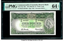 Australia Commonwealth Bank of Australia 1 Pound ND (1961-65) Pick 34a R34 PMG Choice Uncirculated 64 EPQ.   HID09801242017  © 2020 Heritage Auctions ...