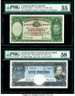 Australia Commonwealth of Australia Reserve Bank 5; 1 Pounds ND (1960-65); ND (1942) Pick 35a; 26b Two Examples R50; R30a-b Two Examples PMG Choice Ab...