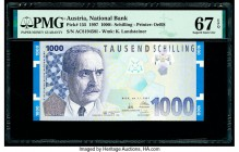 Austria Austrian National Bank 1000 Schilling 1.1.1997 Pick 155 PMG Superb Gem Unc 67 EPQ.   HID09801242017  © 2020 Heritage Auctions | All Rights Res...