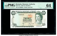 Bermuda Monetary Authority 20 Dollars 1.5.1984 Pick 31c PMG Choice Uncirculated 64.   HID09801242017  © 2020 Heritage Auctions | All Rights Reserved