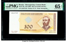 Bosnia - Herzegovina Central Bank 100 Convertible Maraka ND (1998) Pick 70a PMG Gem Uncirculated 65 EPQ.   HID09801242017  © 2020 Heritage Auctions | ...