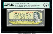 Canada Bank of Canada $20 1954 Pick 80b BC-41b PMG Superb Gem Unc 67 EPQ.   HID09801242017  © 2020 Heritage Auctions | All Rights Reserved
