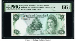 Cayman Islands Currency Board 5 Dollars 1971 (ND 1972) Pick 2a PMG Gem Uncirculated 66 EPQ.   HID09801242017  © 2020 Heritage Auctions | All Rights Re...