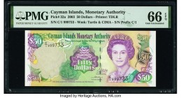 Cayman Islands 50 Dollars 2003 Pick 32a PMG Gem Uncirculated 66 EPQ.   HID09801242017  © 2020 Heritage Auctions | All Rights Reserved