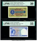 Ceylon Government of Ceylon 1 Rupee 1.9.1922; 16.10.1954 Pick 16a; 49b Two Examples PMG Very Fine 30; About Uncirculated53.   HID09801242017  © 2020 H...