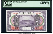 China Bank of Communications, Shanghai 100 Yuan 1.10.1914 Pick 120c S/M#C126-126 PCGS Very Choice New 64PPQ.   HID09801242017  © 2020 Heritage Auction...