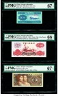 China People's Bank of China 2 Fen; 1 Jiao; 5; 1 Yuan 1953; 1980 (3); 1960 Pick 861b; 881a; 886 (2); 874c Five Examples PMG Superb Gem Unc 67 EPQ (2);...
