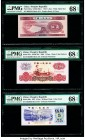 China People's Bank of China 5 Jiao; 1 Yuan; 5 Jiao 1953; 1960; 1972 Pick 865a; 874c; 880c Three Examples PMG Superb Gem Unc 68 EPQ (3).   HID09801242...