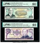 Costa Rica Banco Central de Costa Rica 100; 500 Colones 12.6.1974; 18.5.1982 Pick 240a; 249b Two Examples PMG Choice Uncirculated 64 EPQ (2).   HID098...