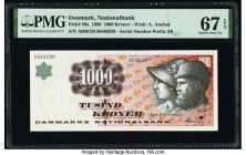Denmark National Bank 1000 Kroner 1998 Pick 59a PMG Superb Gem Unc 67 EPQ.   HID09801242017  © 2020 Heritage Auctions | All Rights Reserved