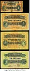East Africa Currency Board Group Lot of 4 Examples Good-Fine. The one shilling is split with tape.  HID09801242017  © 2020 Heritage Auctions | All Rig...