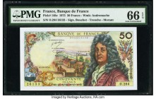 France Banque de France 50 Francs 2.10.1975 Pick 148e PMG Gem Uncirculated 66 EPQ.   HID09801242017  © 2020 Heritage Auctions | All Rights Reserved