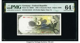 Germany Federal Republic Bank Deutscher Lander 5 Deutsche Mark 9.12.1948 Pick 13i PMG Choice Uncirculated 64 EPQ.   HID09801242017  © 2020 Heritage Au...