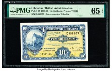 Gibraltar Government of Gibraltar 10 Shillings 3.10.1958 Pick 17 PMG Gem Uncirculated 65 EPQ.   HID09801242017  © 2020 Heritage Auctions | All Rights ...