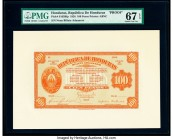 Honduras Billete Aduanero 100 Pesos Pick S165Bfp; S165Bbp Front and Back Proofs Proof PMG Superb Gem Unc 67 EPQ (2).   HID09801242017  © 2020 Heritage...