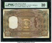 India Reserve Bank of India 1000 Rupees ND (1975) Pick 65a Jhun6.9.4.1 PMG Very Fine 30. Staple holes at issue and pinholes.  HID09801242017  © 2020 H...