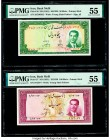 Iran Bank Melli 50; 100 Rials ND (1951) / SH1330 Pick 56; 57 Two Examples PMG About Uncirculated 55 (2).   HID09801242017  © 2020 Heritage Auctions | ...