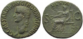 Gaius, called Caligula (37-41), As, Rome, AD 39-40